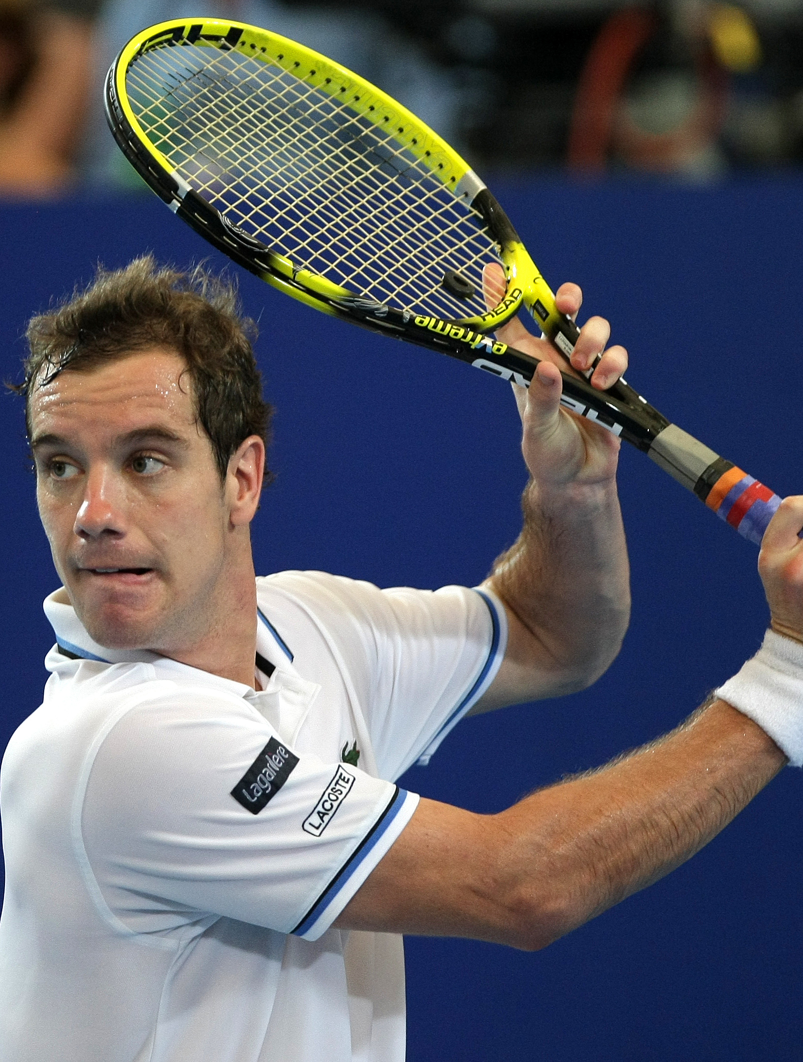 Richard Gasquet of France in action in the Hopman Cup 2012 ...